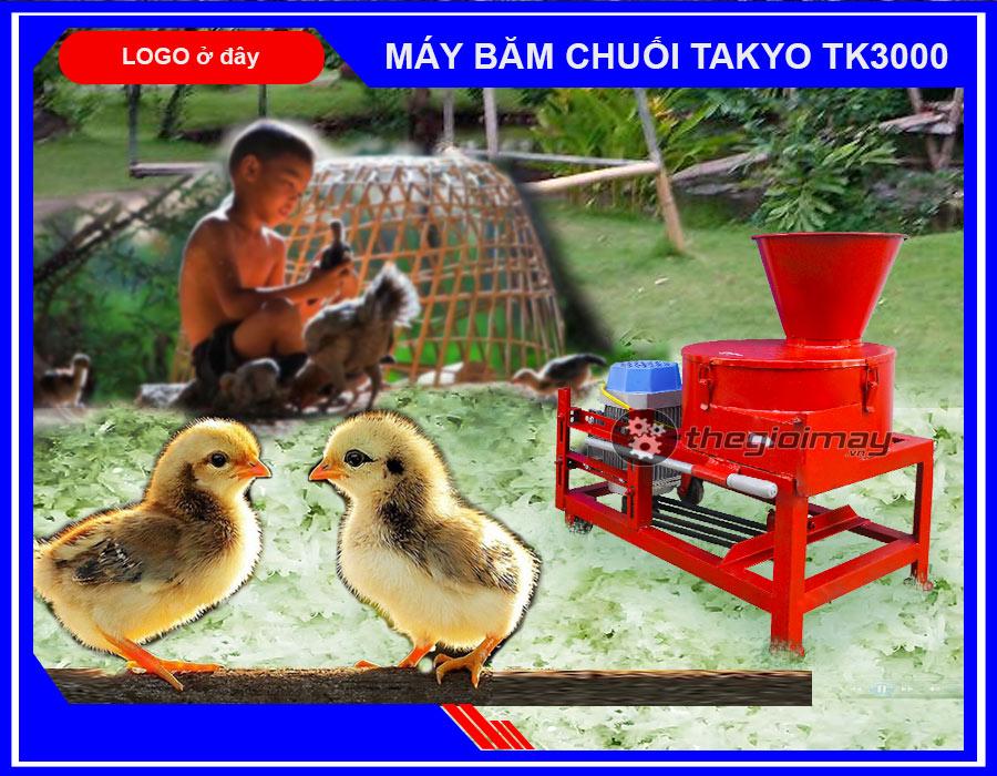 Cung cấp máy băm chuối đa năng Takyo TK3000 cho gà giá rẻ tại Long An