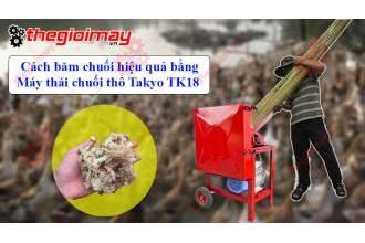 Cách điều chỉnh độ dày mỏng của cây chuối trên máy thái chuối Takyo TK18